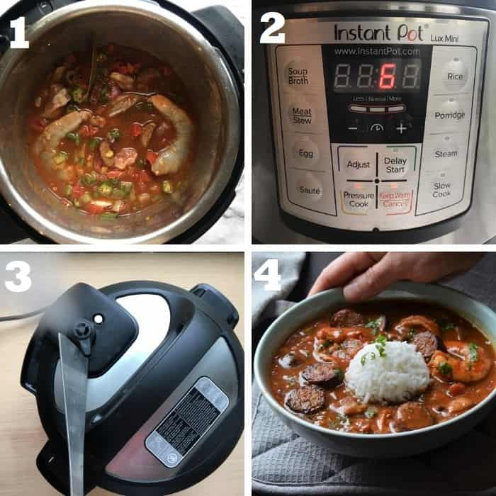 pressure cooking gumbo in instant pot