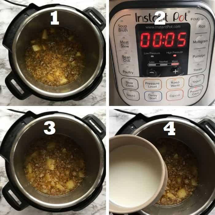 pressure cook zuppa toscana in instant pot
