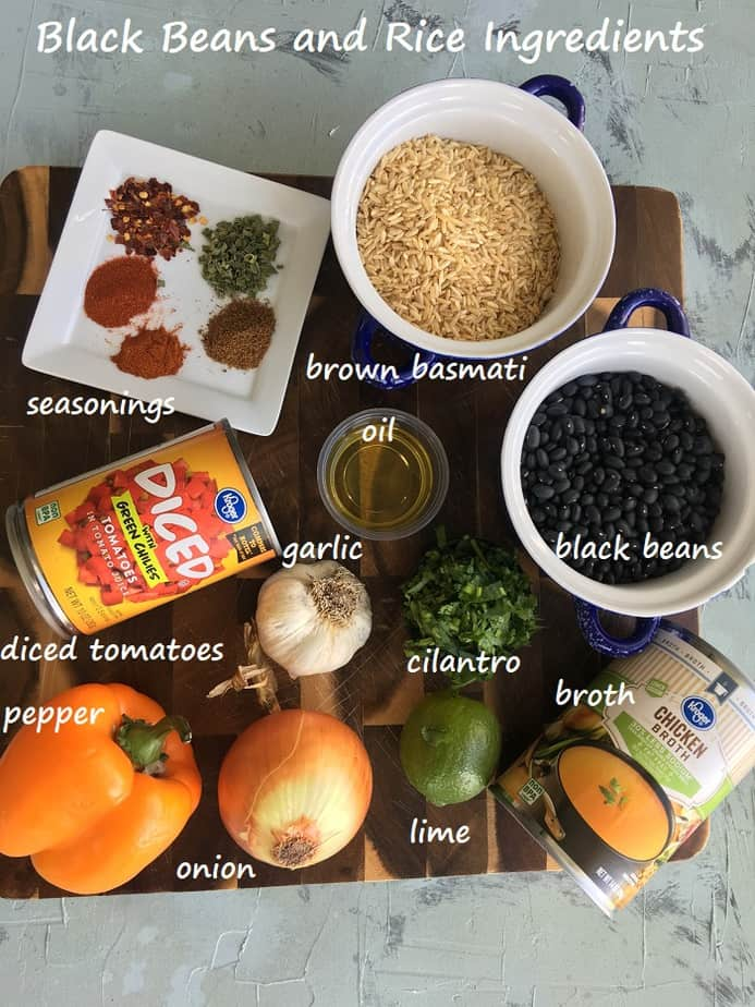 recipe ingredients on a wooden board