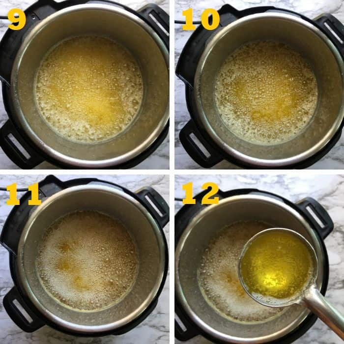 making clarified butter in instant pot step by step