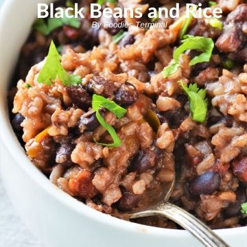 Instant Pot rice and black beans