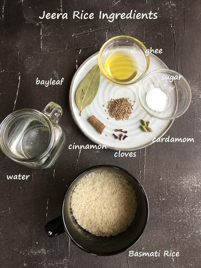 Cumin Rice ingredients