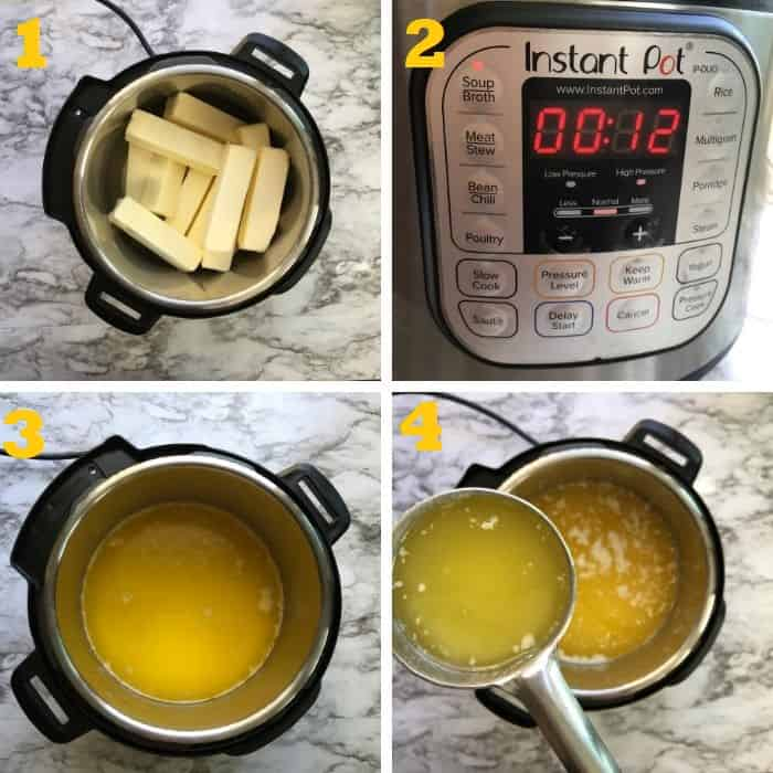 Melting butter in instant pot step by step