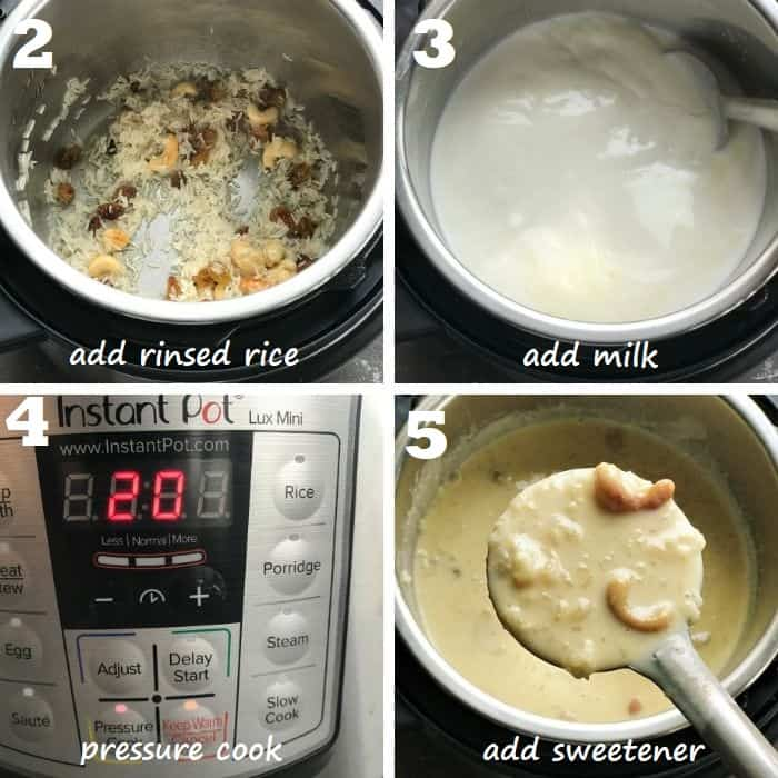how to make kheer in instant pot step by step