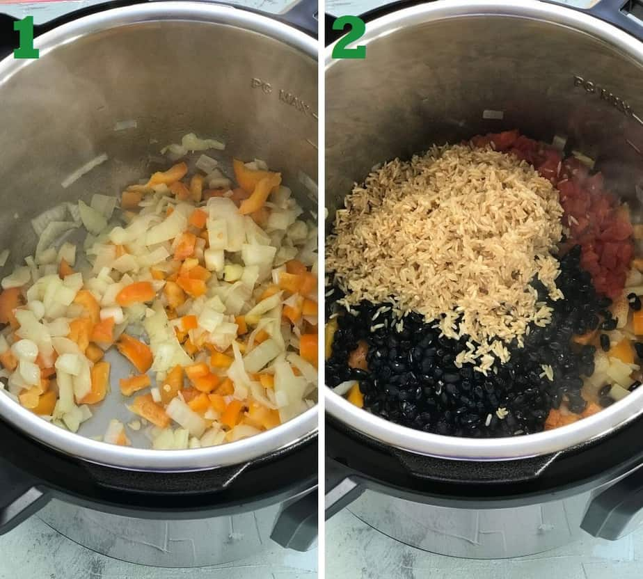 recipe ingredients in the Instant Pot
