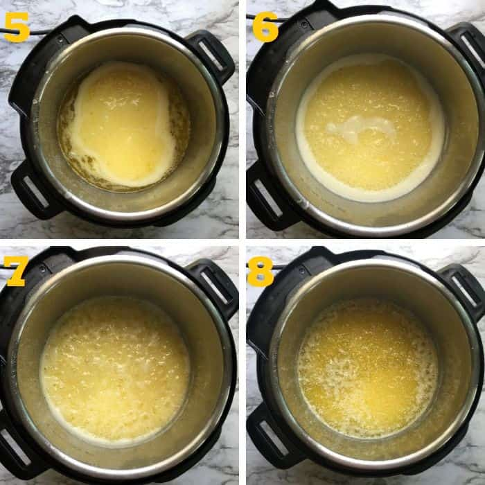 coking butter in instant pot step by step