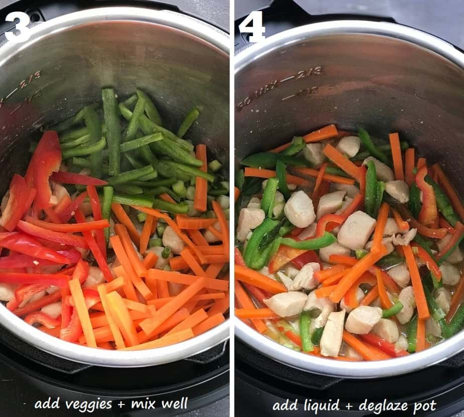 ramen stir fry veggies in instant pot