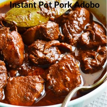 Instant Pot Pork Adobo Filipino style
