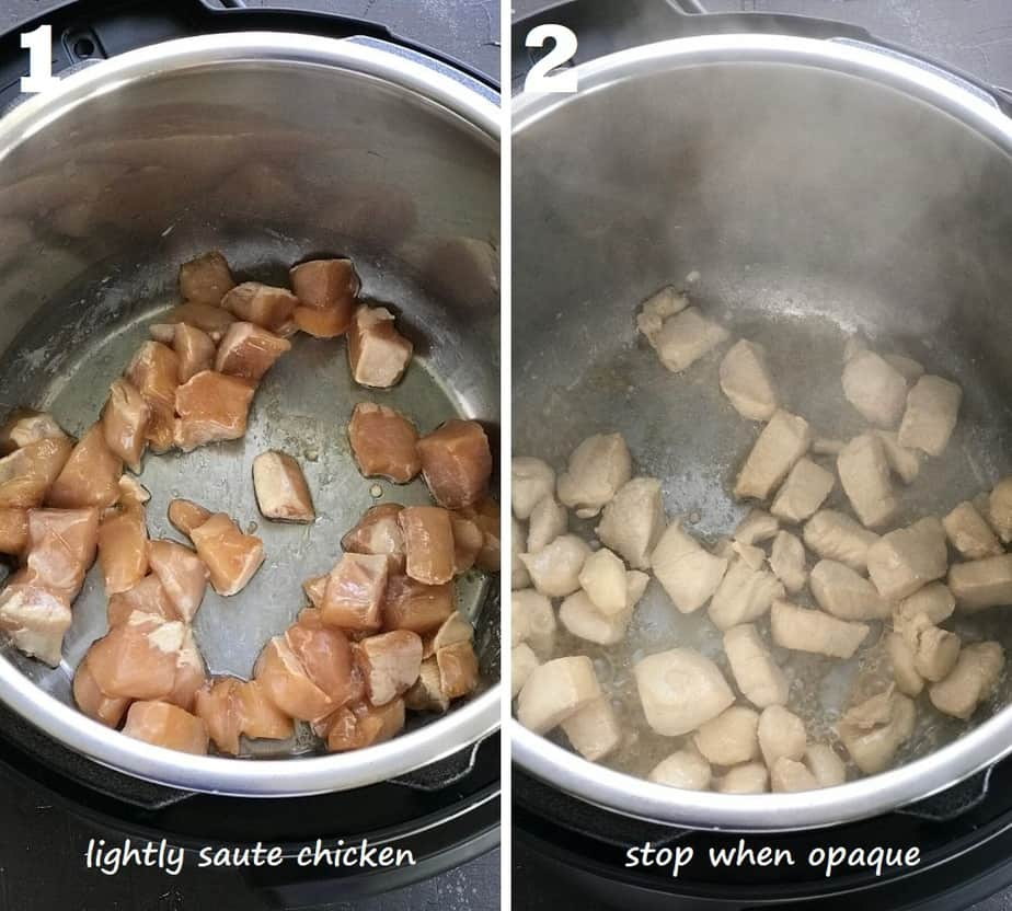 sauteing chicken in instant pot