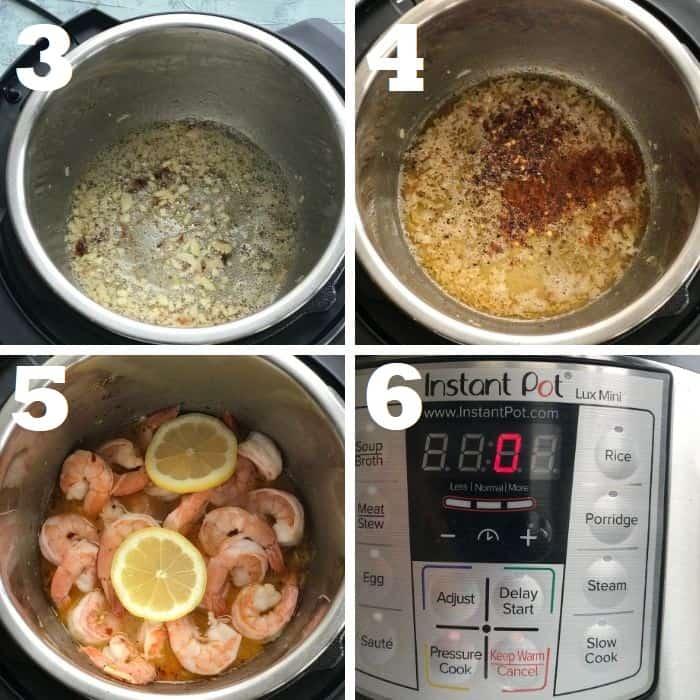 how to make instant pot shrimp scampi step by step