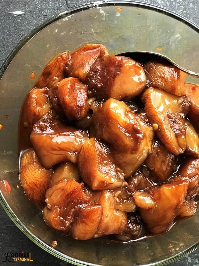 soy sauce marinated chicken