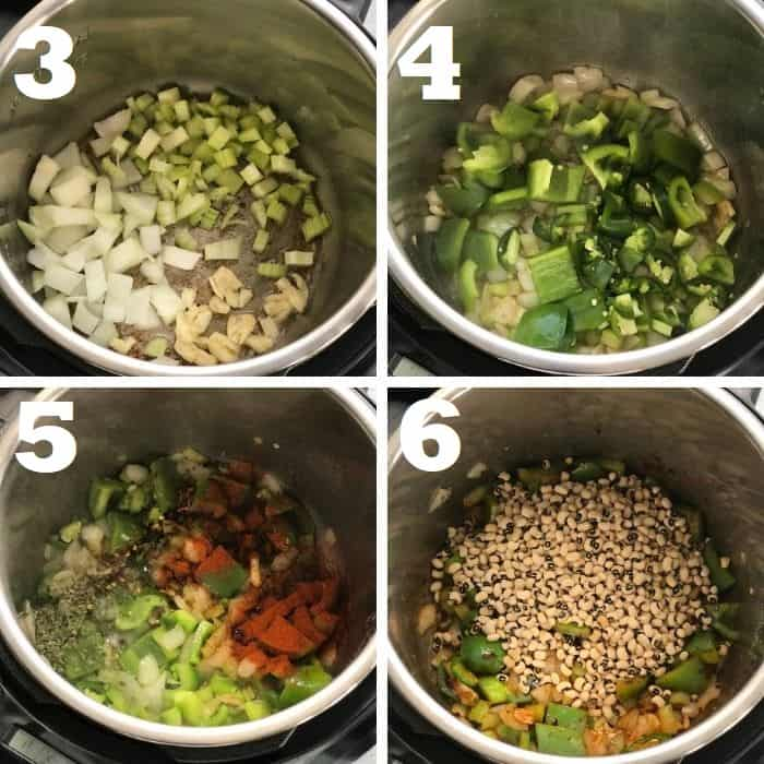 making the black eyed peas in instant pot step by step