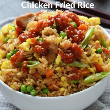 Takeout style Chinese chicken fried rice