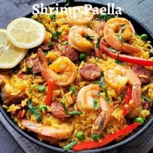 Instant Pot Shrimp chorizo paella recipe