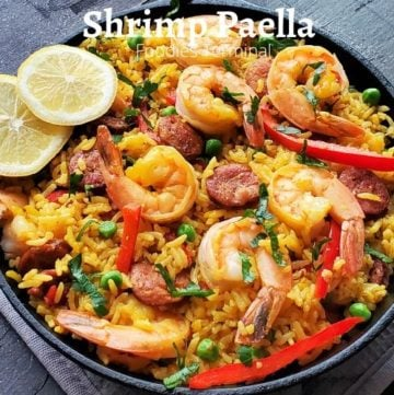 Instant Pot Shrimp chorizo paella recipe