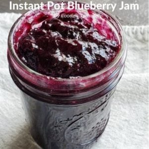 Easy Instant Pot Blueberry Jam