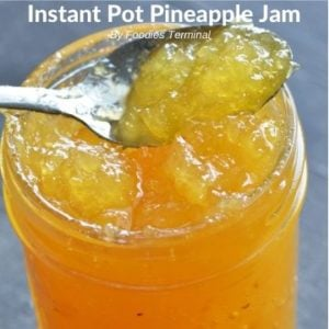 Instant Pot Pineapple Jam without pectine