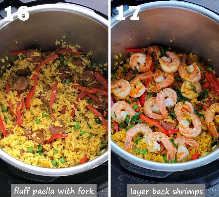 instant pot shrimp paella spanish style ready in instant pot
