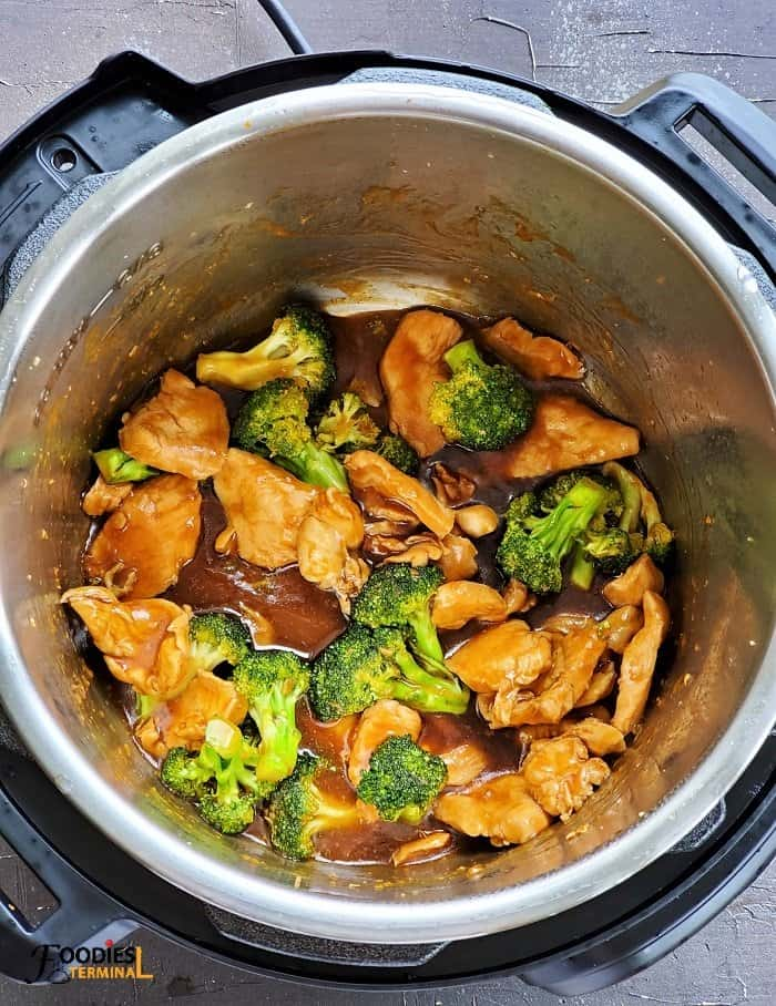 Chinese chicken and broccoli in instant pot