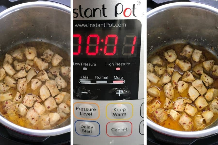 Pressure cooking chicken with orange juice in instant pot step by step photos