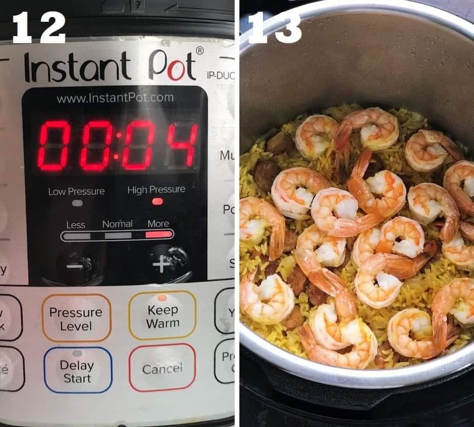 pressure cooking paella in instant pot