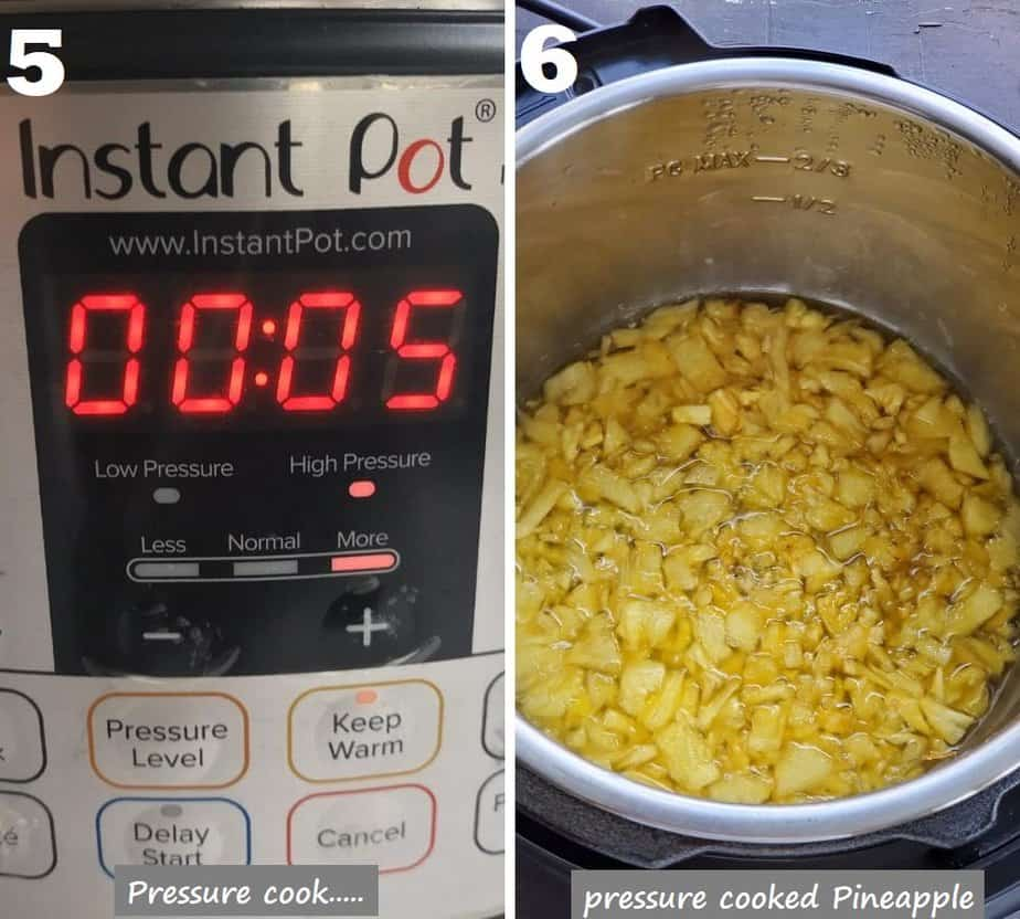 pressure cook pineapple in instant pot