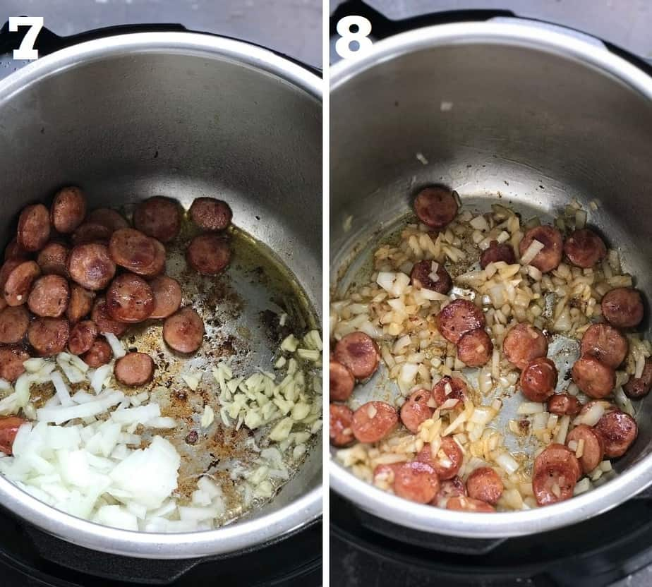 sauteing aromatics in instant pot