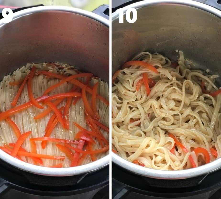 de-tangling cooked rice noodles in instant pot