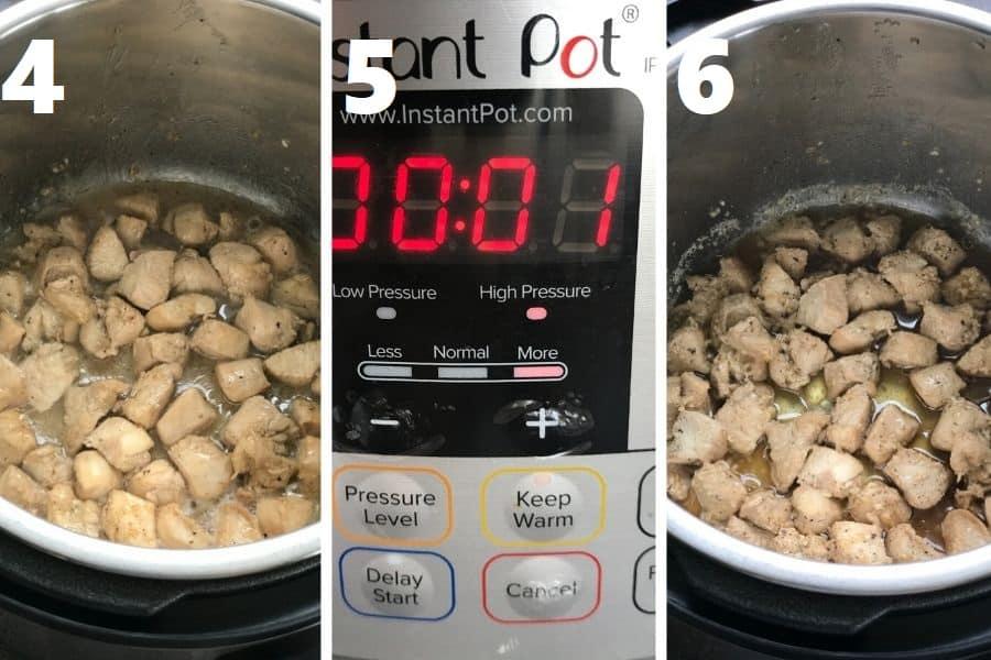 pressure cooking chicken in instant pot