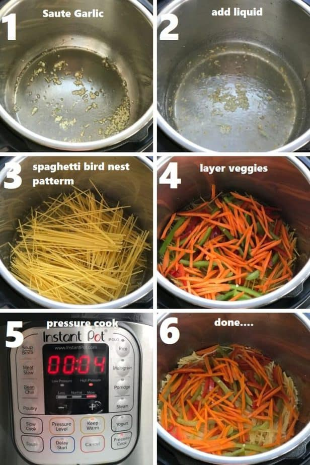 pressure cooking noodles & veggies in the instant pot