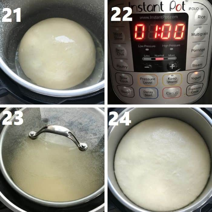 proofing the pita dough in instant pot step by step
