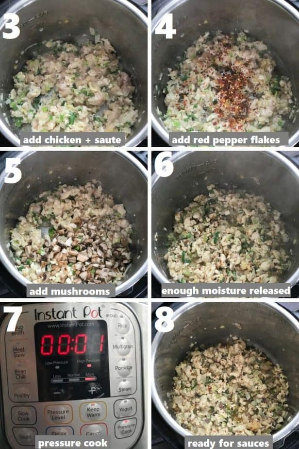 sauteing and pressure cooking chicken in instant pot