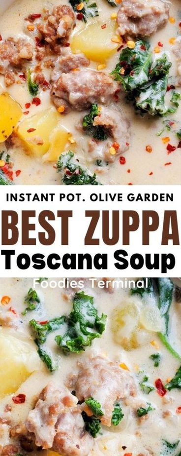 zuppa toscana with italian sausage, potatoes & kale