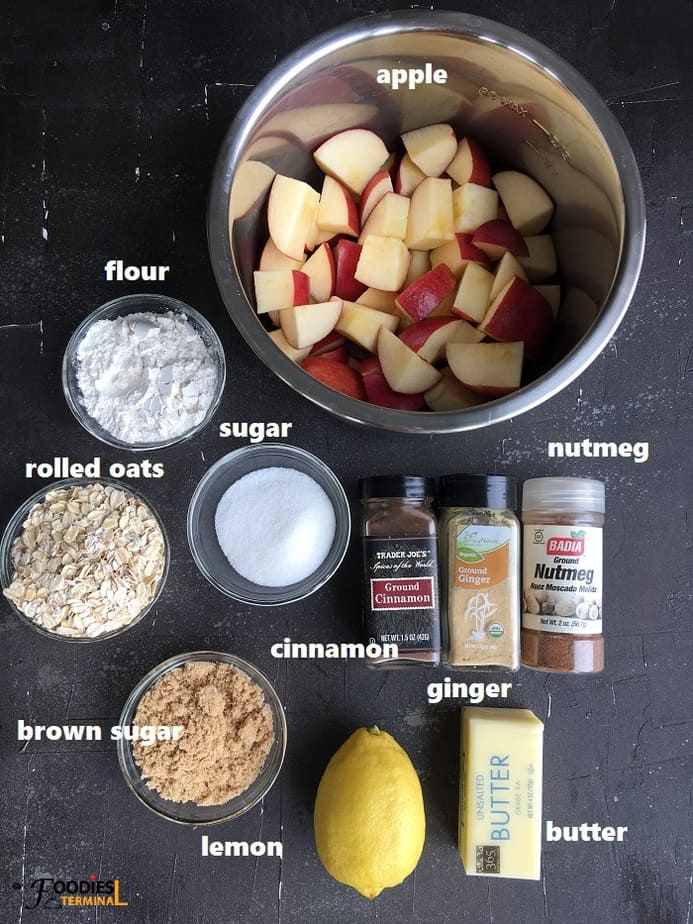Ingredients on black surface