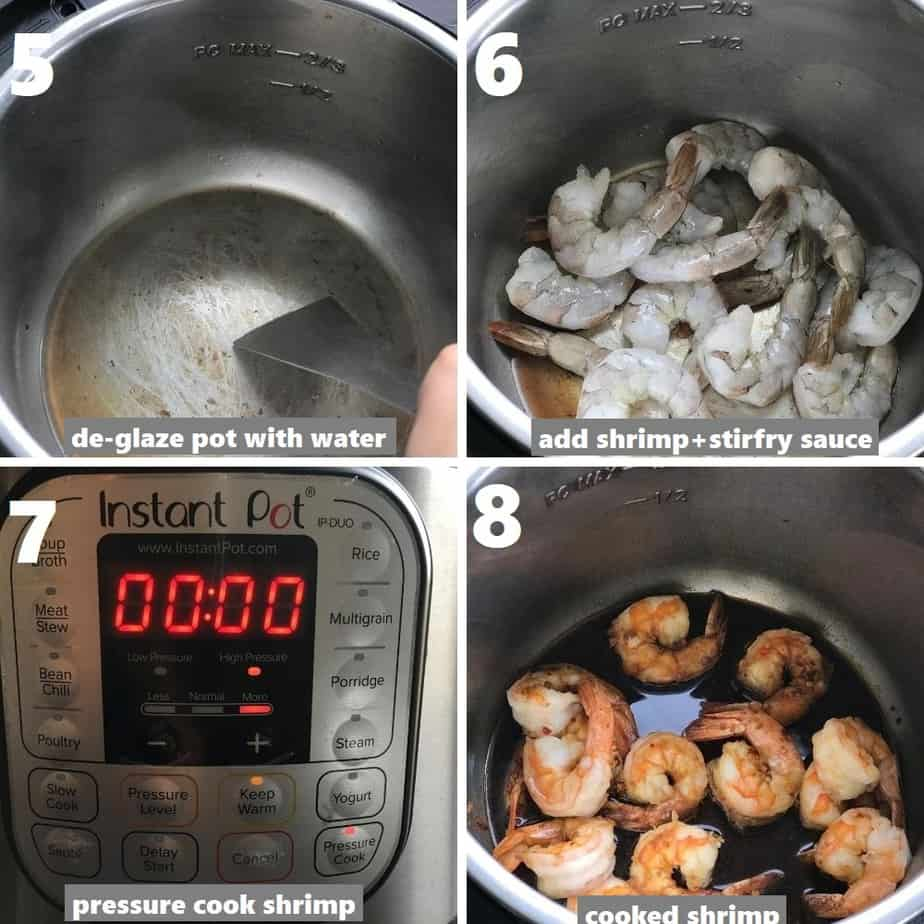pressure cook shrimp in instant pot