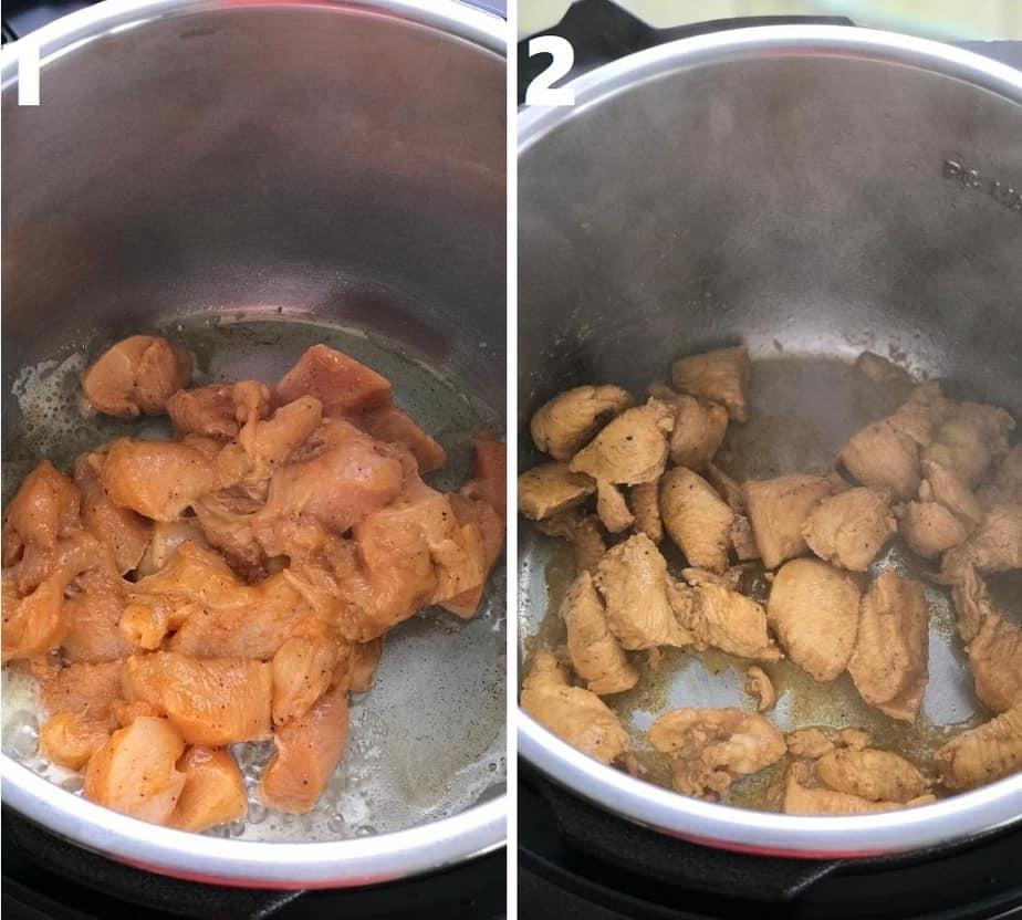 sauteing chicken in instant pot