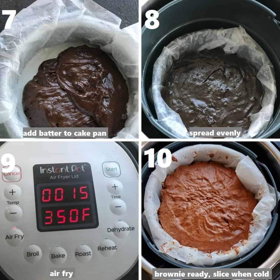 air frying brownies in the instant pot using the air fryer lid