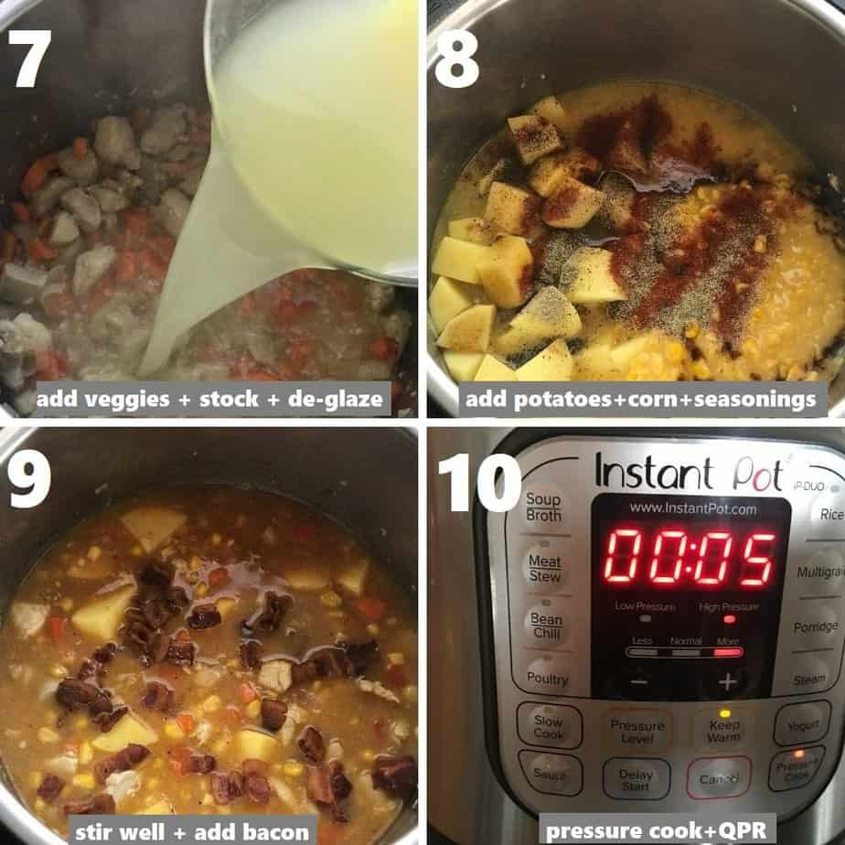 pressure cooking chowder in instant pot