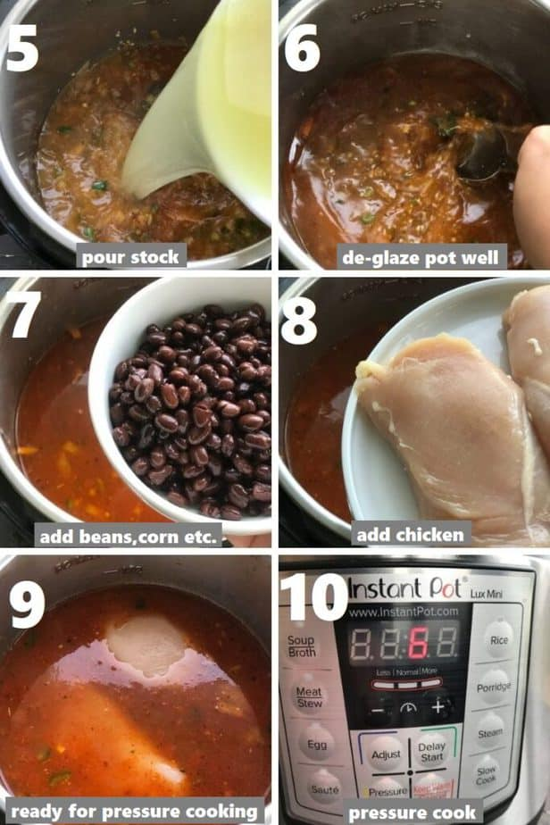 pressure cooking chicken in instant pot