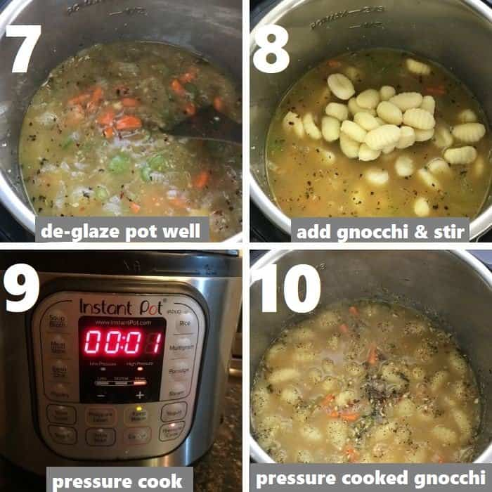 pressure cooking gnocchi in instant pot