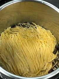 pressure cooked spaghetti in instant pot