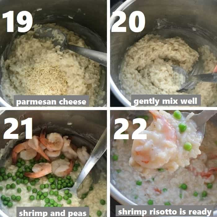 preparing a creamy risotto in instant pot