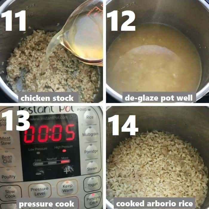 pressure cooking arborio rice in instant pot
