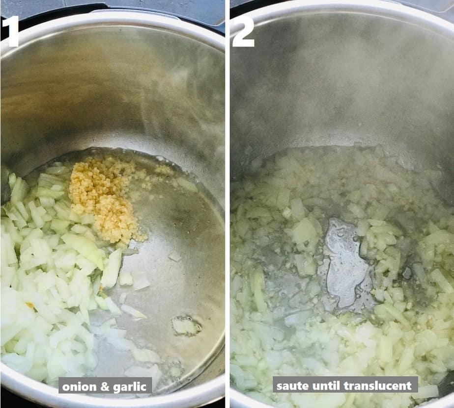 sautéing aromatics in instant pot