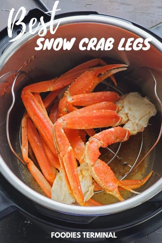 Instant Pot Crab Legs Thawed Frozen Snow Crab Legs Foodies Terminal