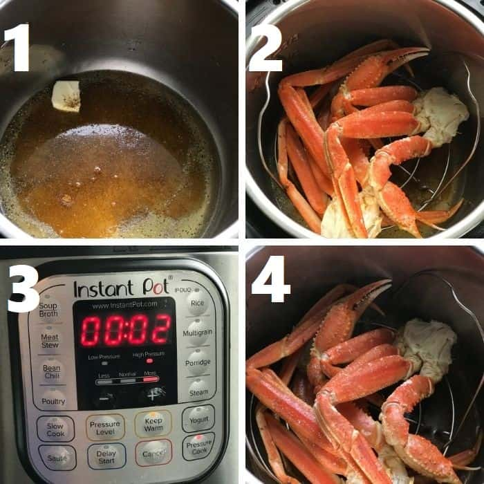 steaming snow crab legs in instant pot