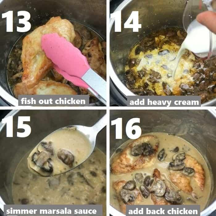 preparing creamy marsala sauce