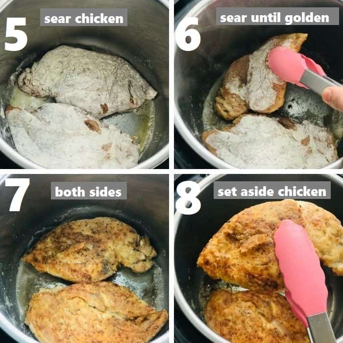 searing chicken cutlets