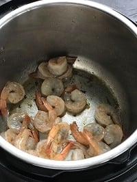 sauteing shrimp in instant pot