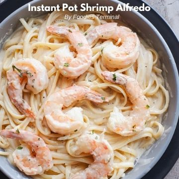 instant pot shrimp alfredo